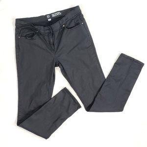 New York & Company coated black skinny jeans 10